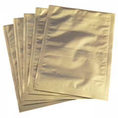 Vacuum bags with golden background