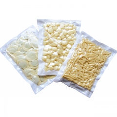 Vacuum bags with white background